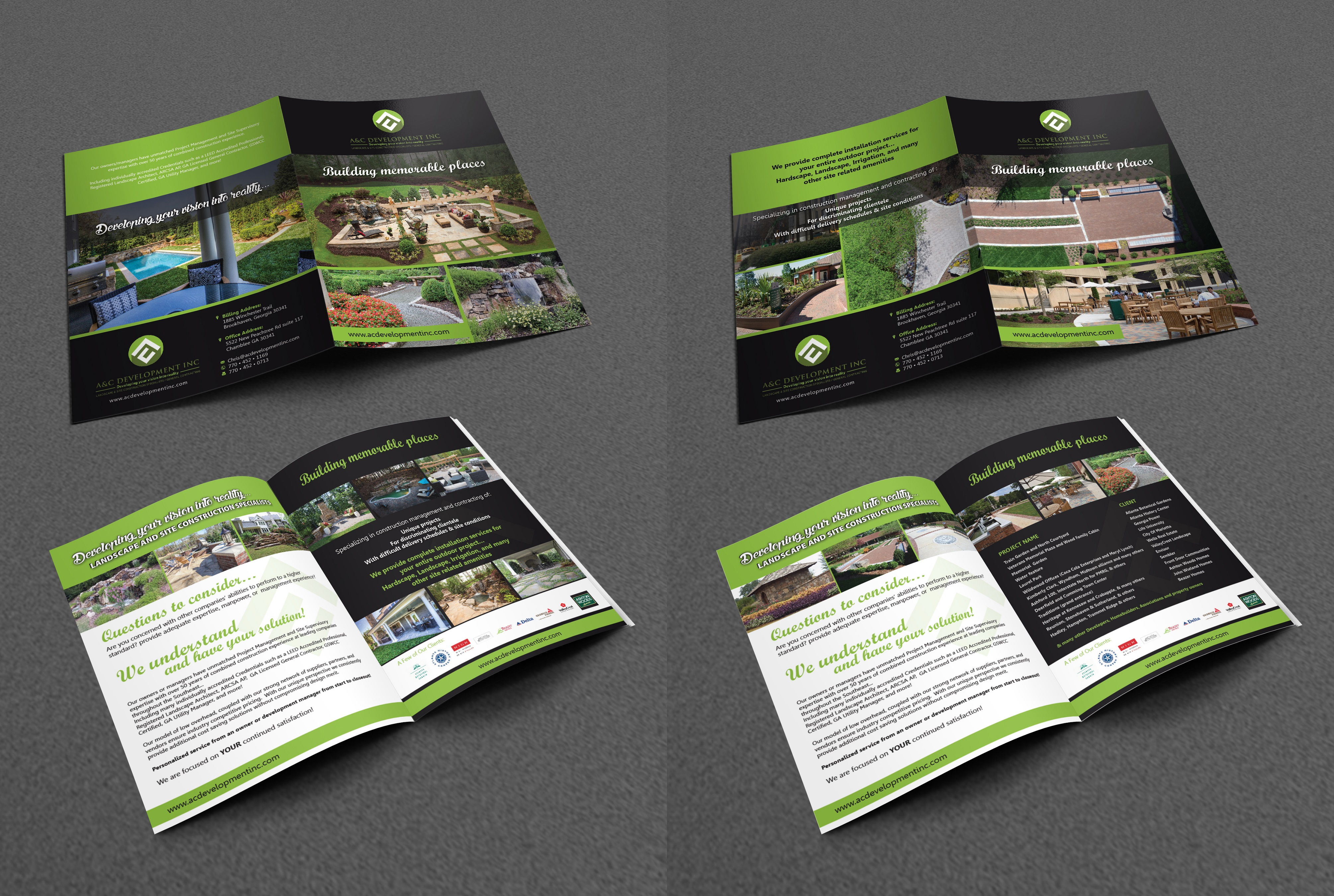 2 brochure flyers- trifold or bifold, whichever looks better... - Construction