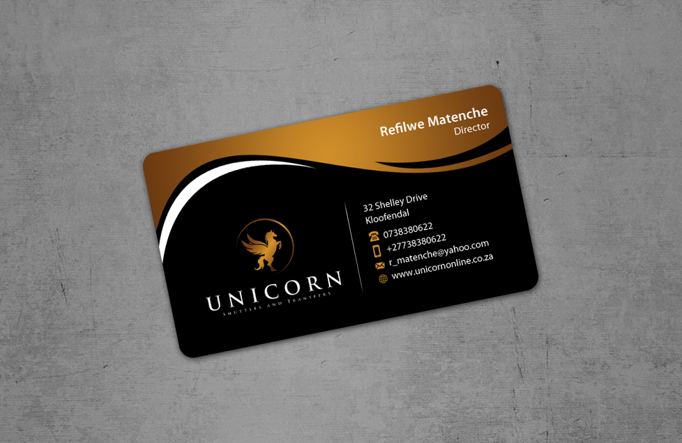 Stationery design for Shuttles and Transfers company - UNICORN - Transportation