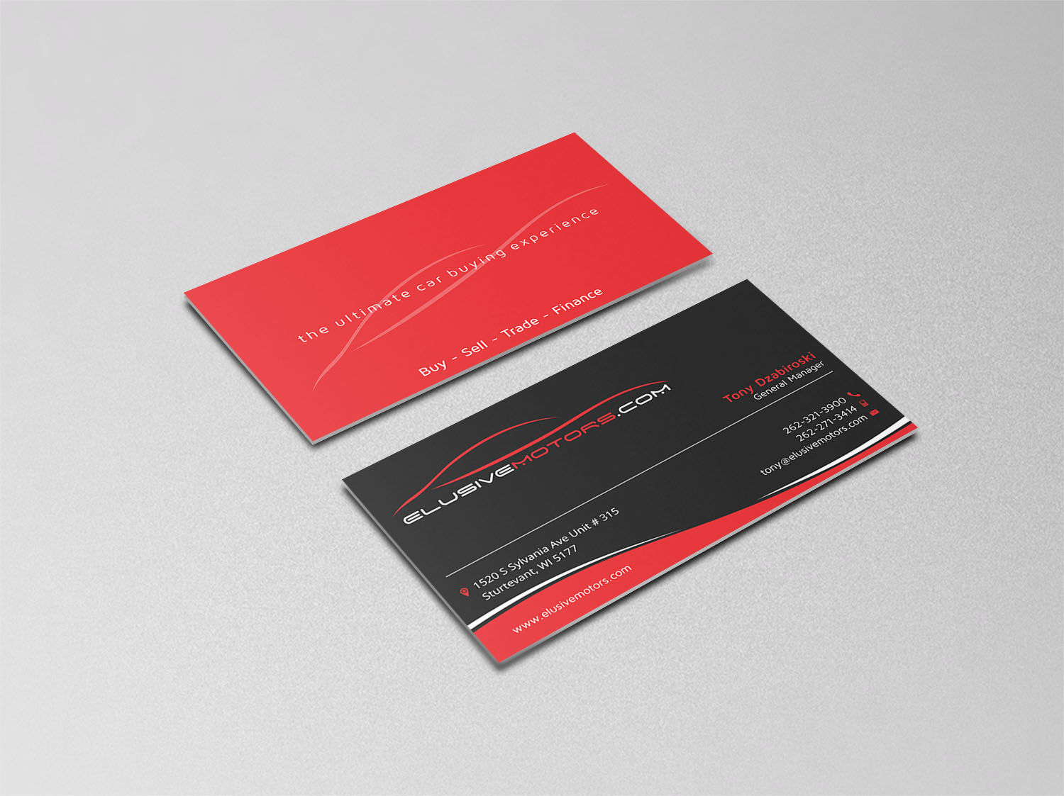 Logo & Business Card for Online Luxury Used Car Dealership - Automotive