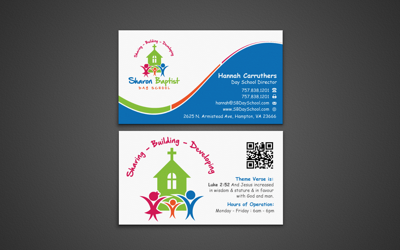 Business Card and Stationary for Sharon Baptist Day School - Childcare