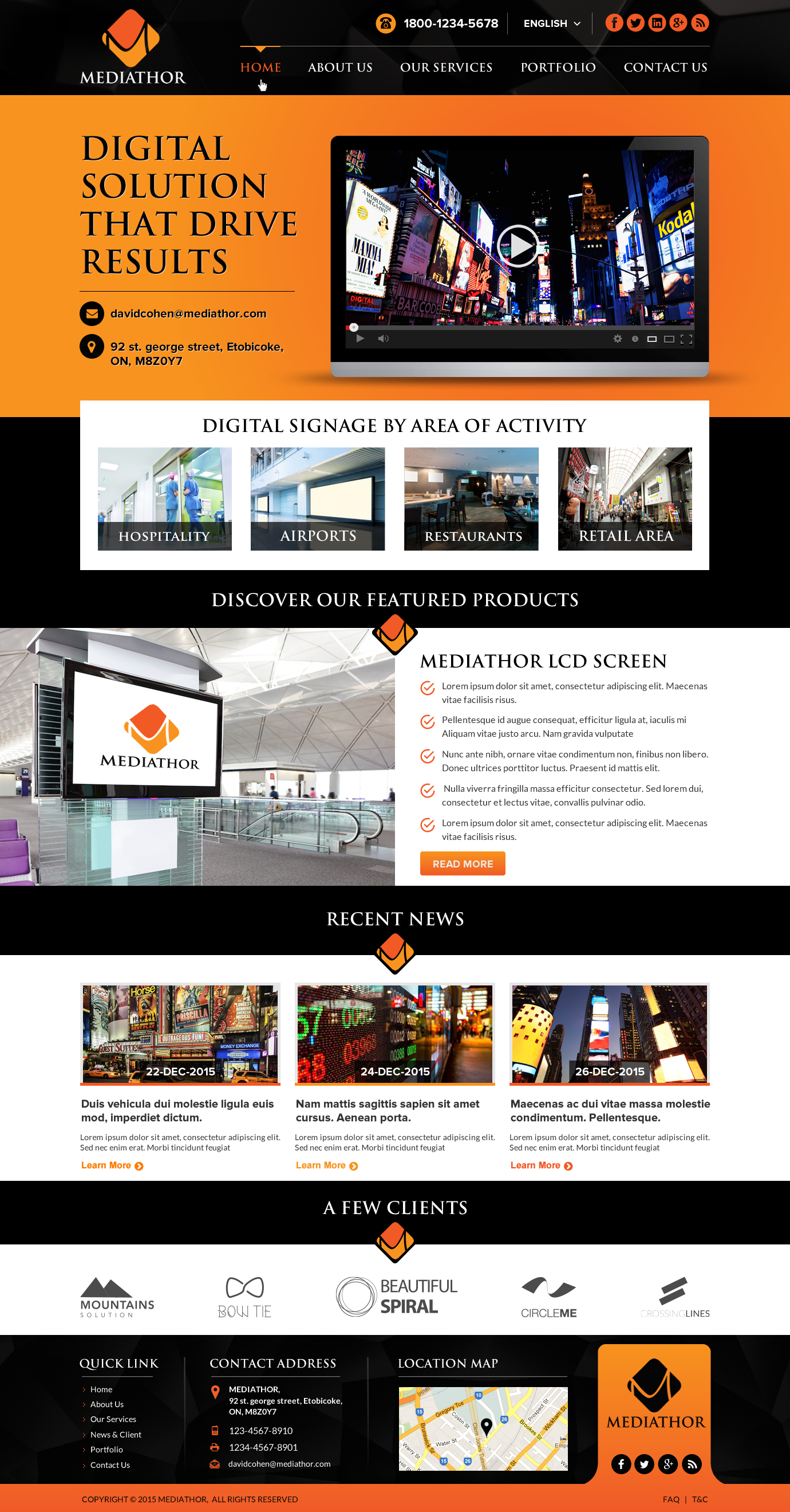Concept web design - Marketing