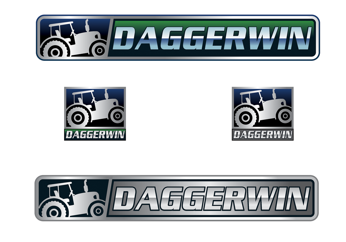Daggerwin YouTube Channel Logo - Farming related  - Video Gaming Logo