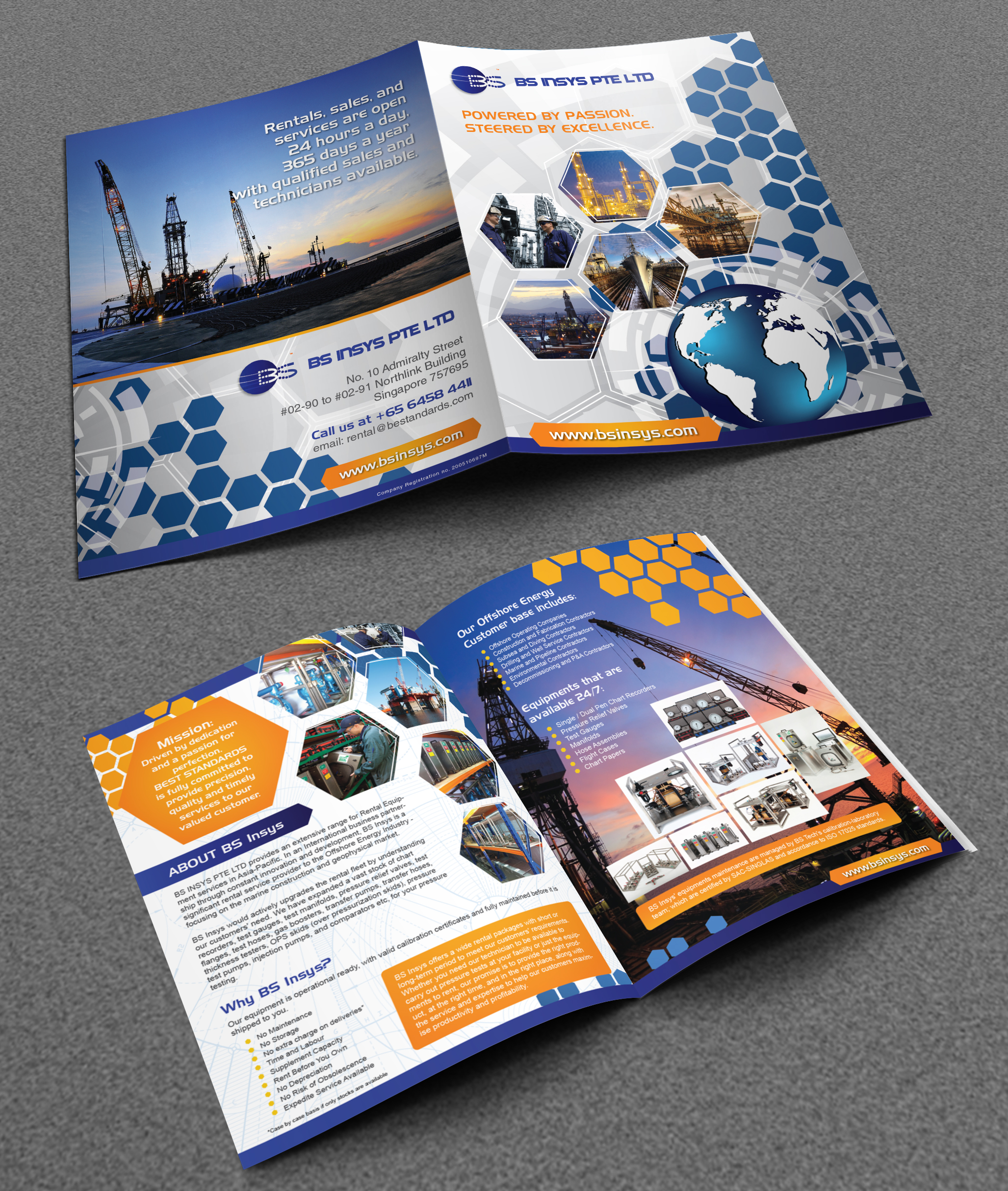 Brochure for a rental service provider that caters to the oil and gas industry.  - Energy