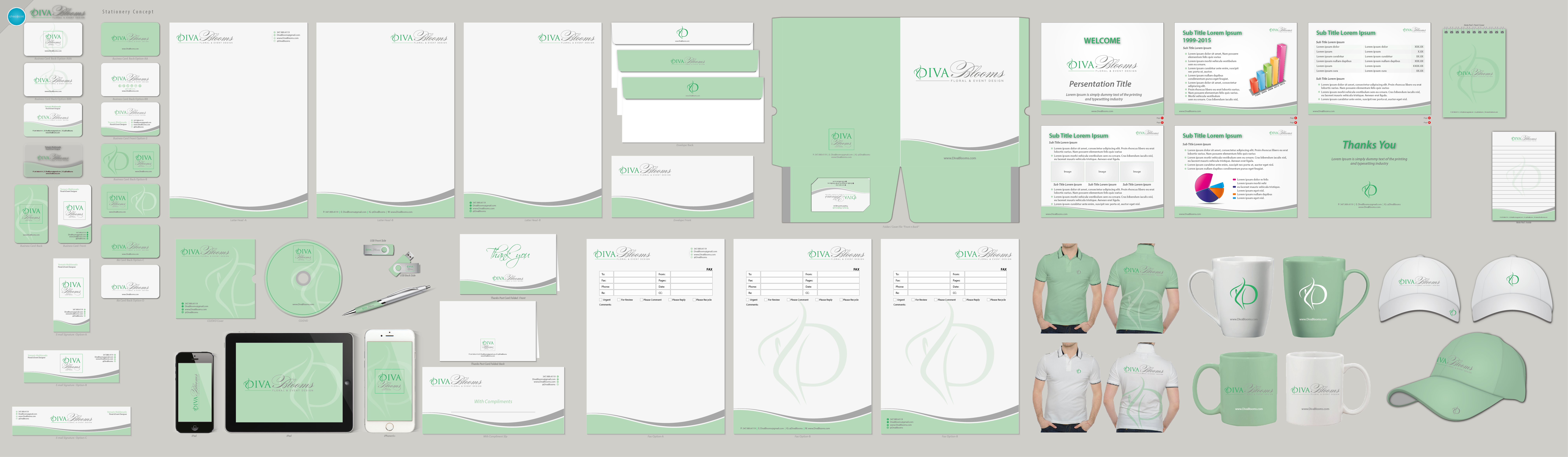 Business Cards & Stationery Options - Events