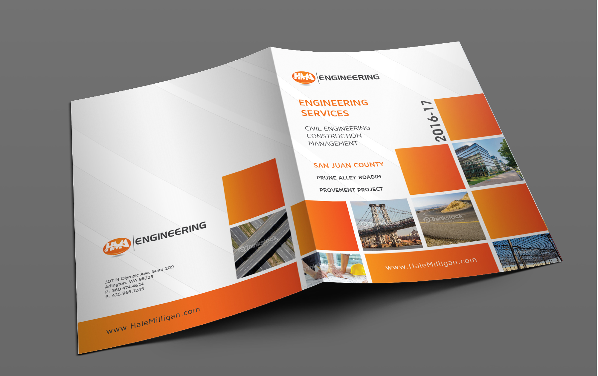 Clean and Modern Front and Back Covers for an Engineering Report - Engineering