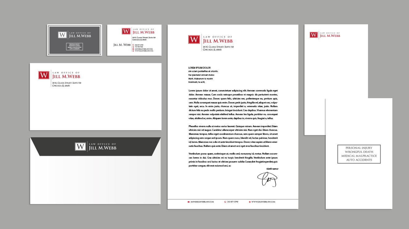 bold, classy, clean design for legal stationary and business cards - more modern than traditional - Law