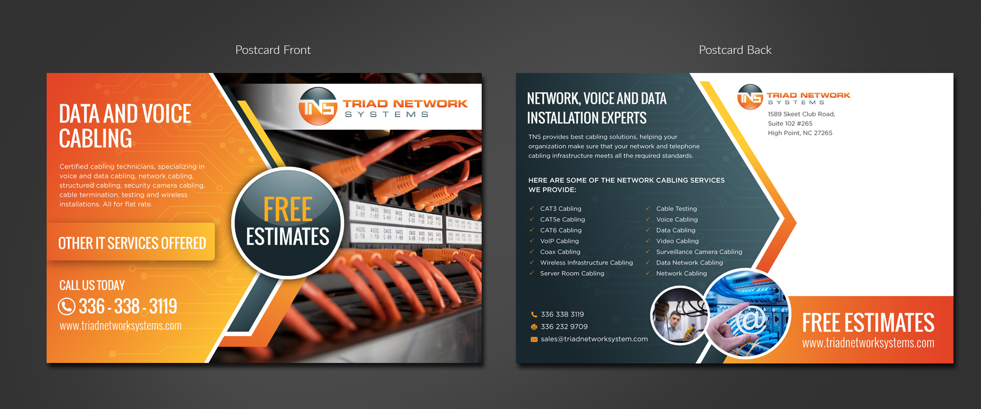 Mailing Flyer for Data and Voice Cable Installation Company - Telecommunications