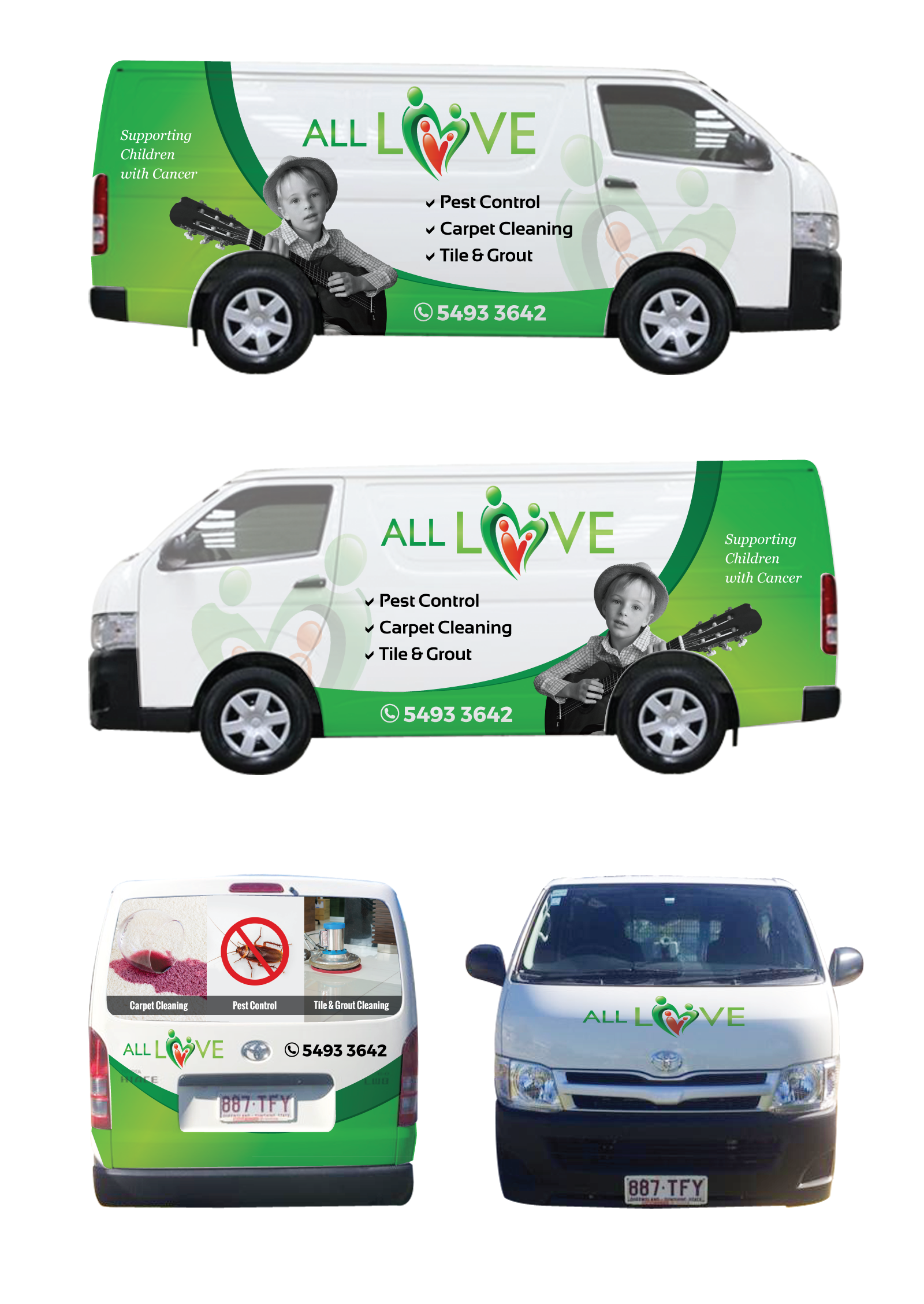 Vehicle Wrap For Pest Control & Carpet Cleaning Company - Cleaning