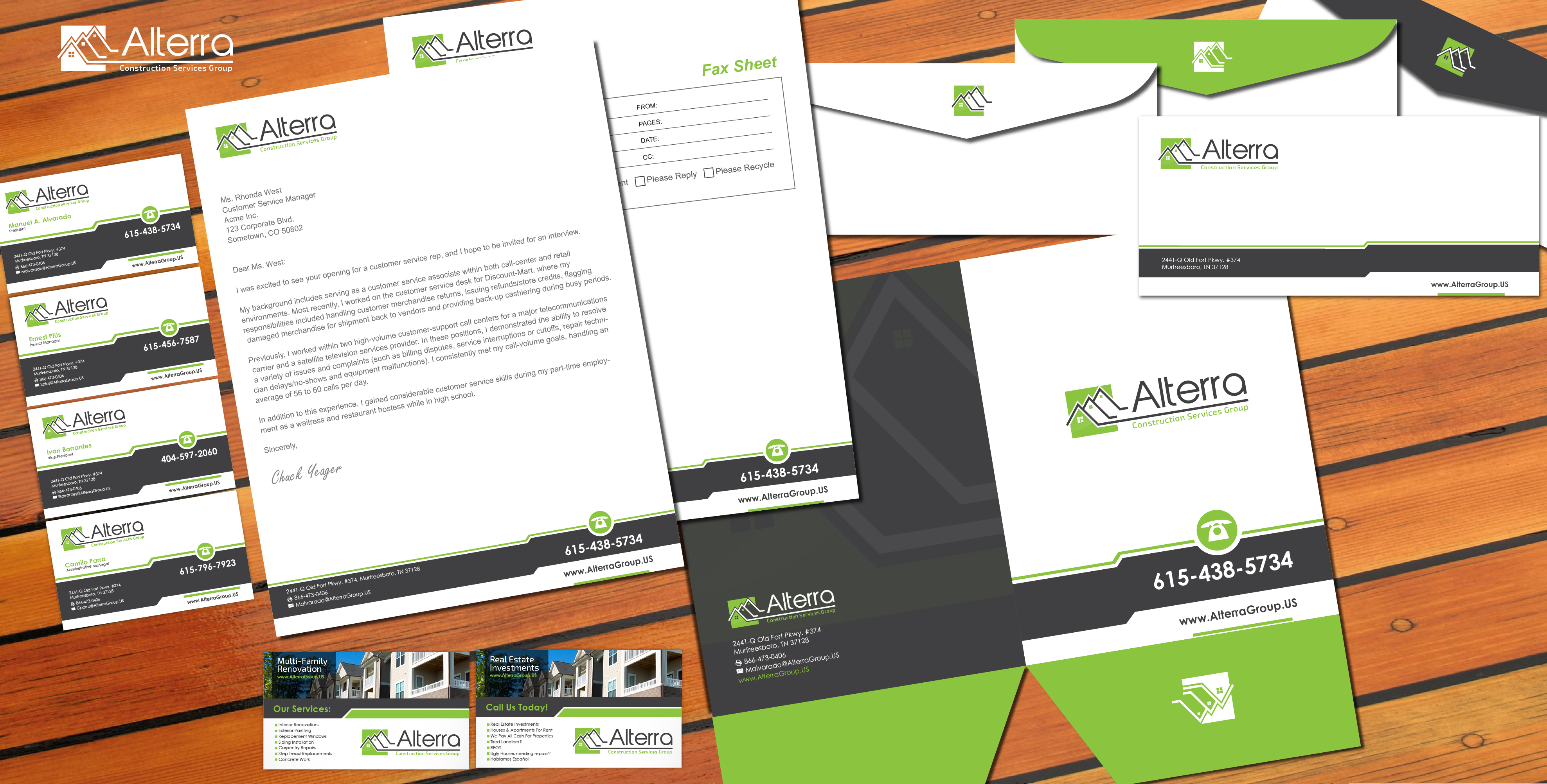 Stationery and Business Cards - Construction