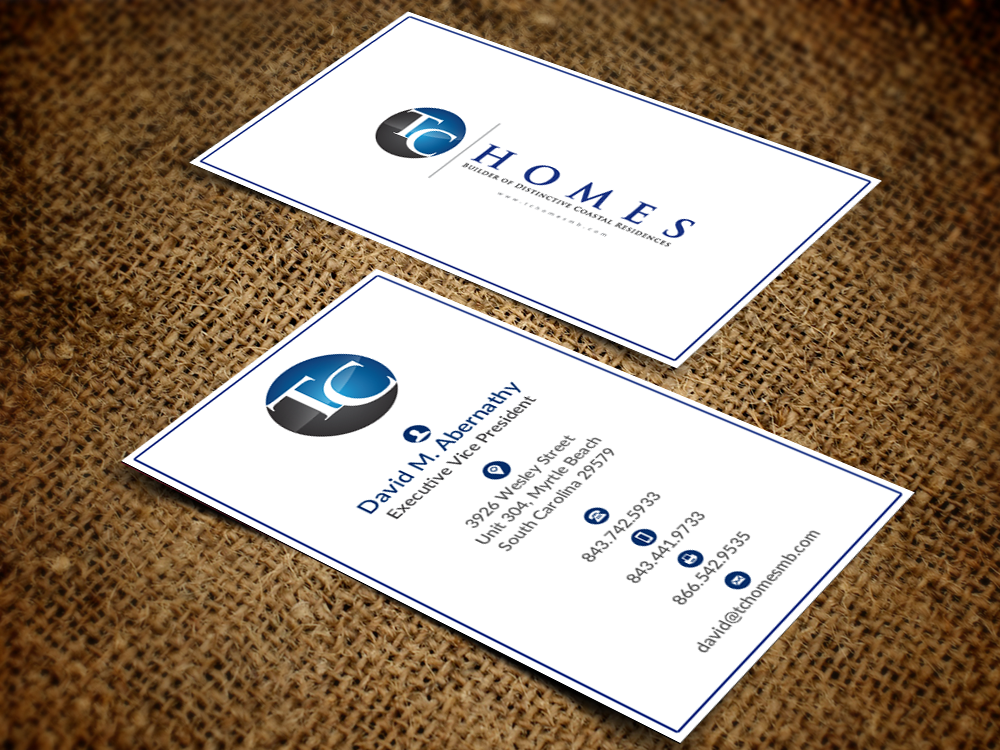 Business Card/Stationary Package for Custom Home Builder - Construction