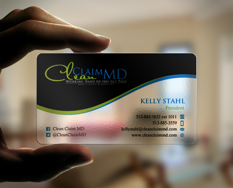 Business Cards for Clean Claim MD a  Medical Billing company - Medical
