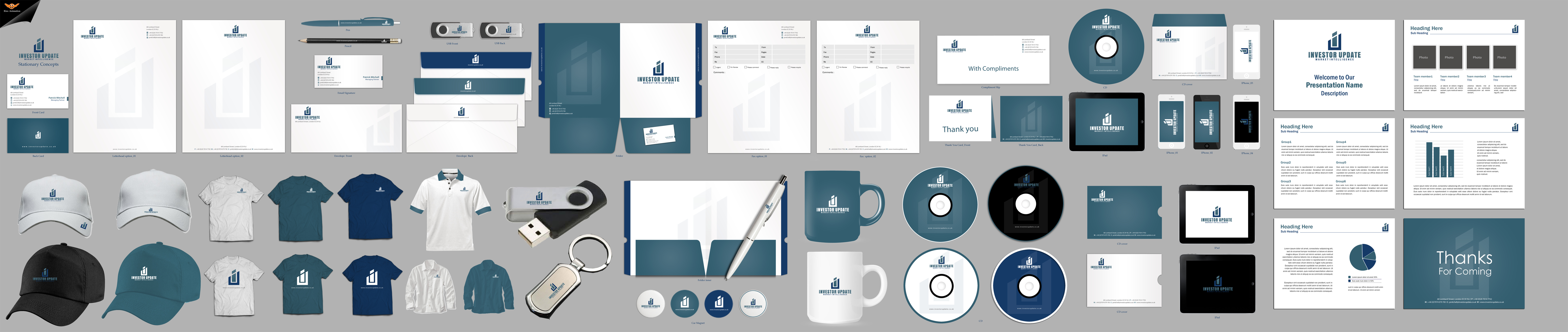 Stationery set for Financial Consultancy based in London - Financial Services