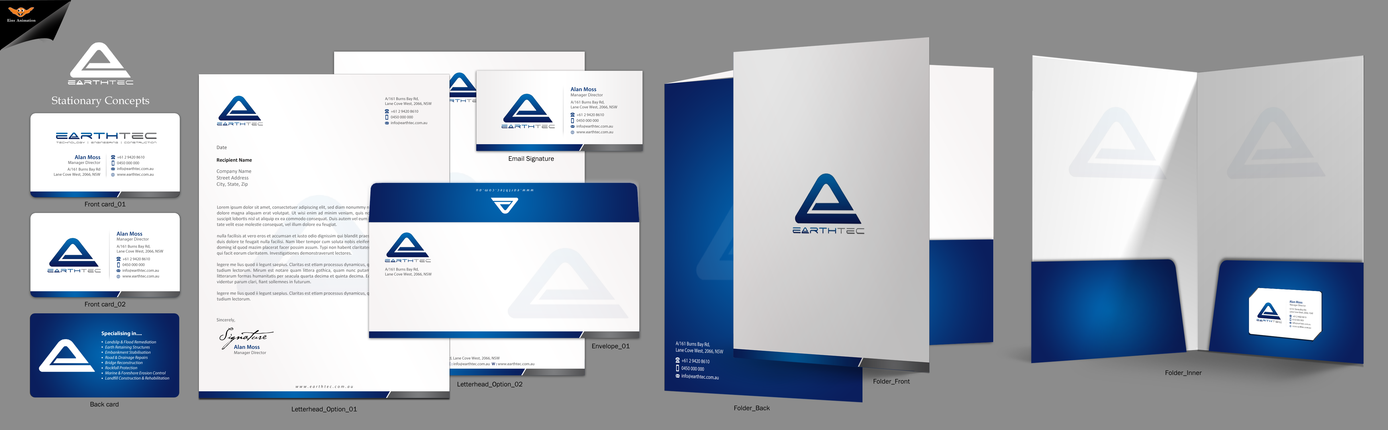 Business Card/Documentation - Rebranding - Engineering