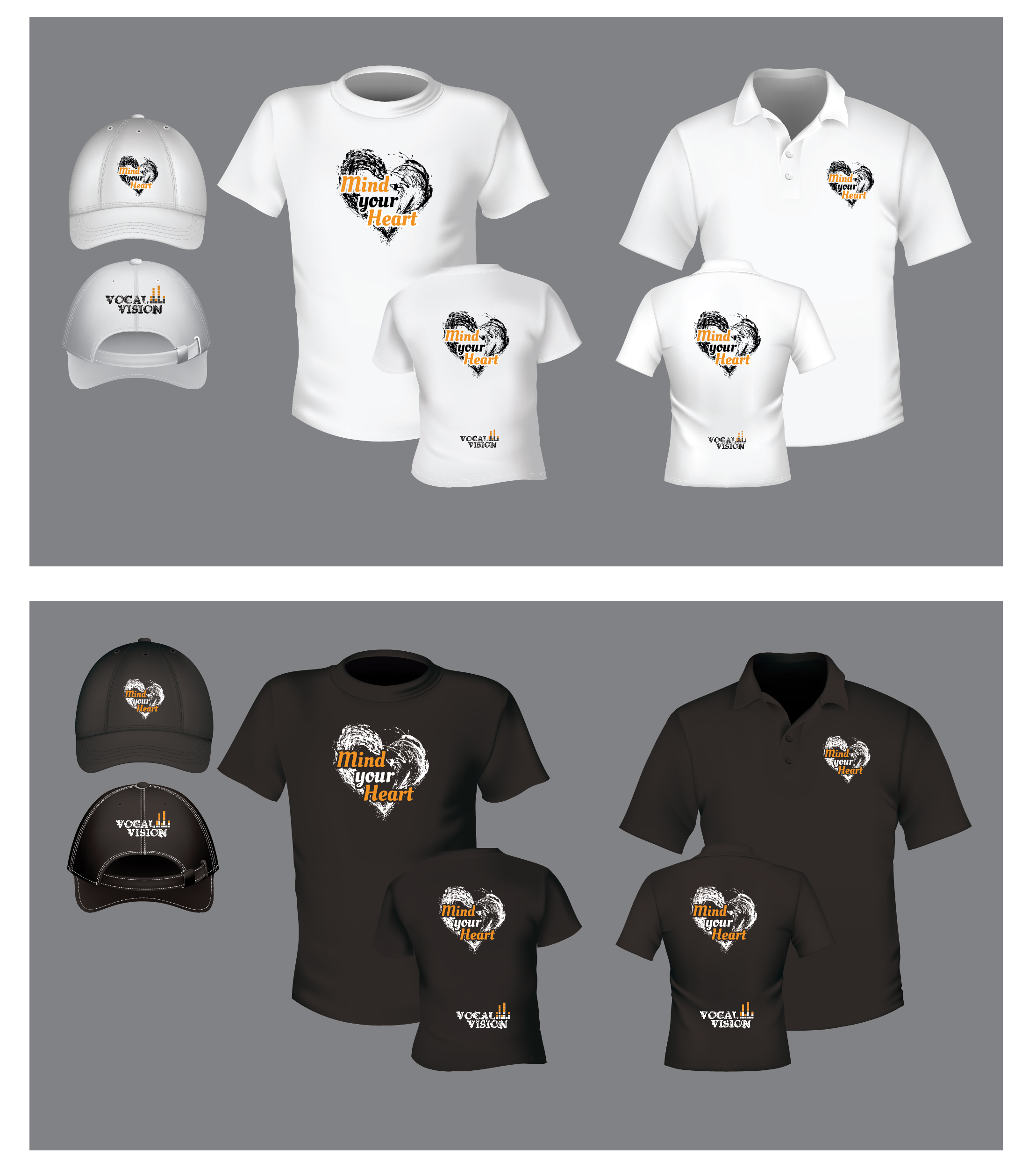 T-Shirt and Hat Design  - Apparel