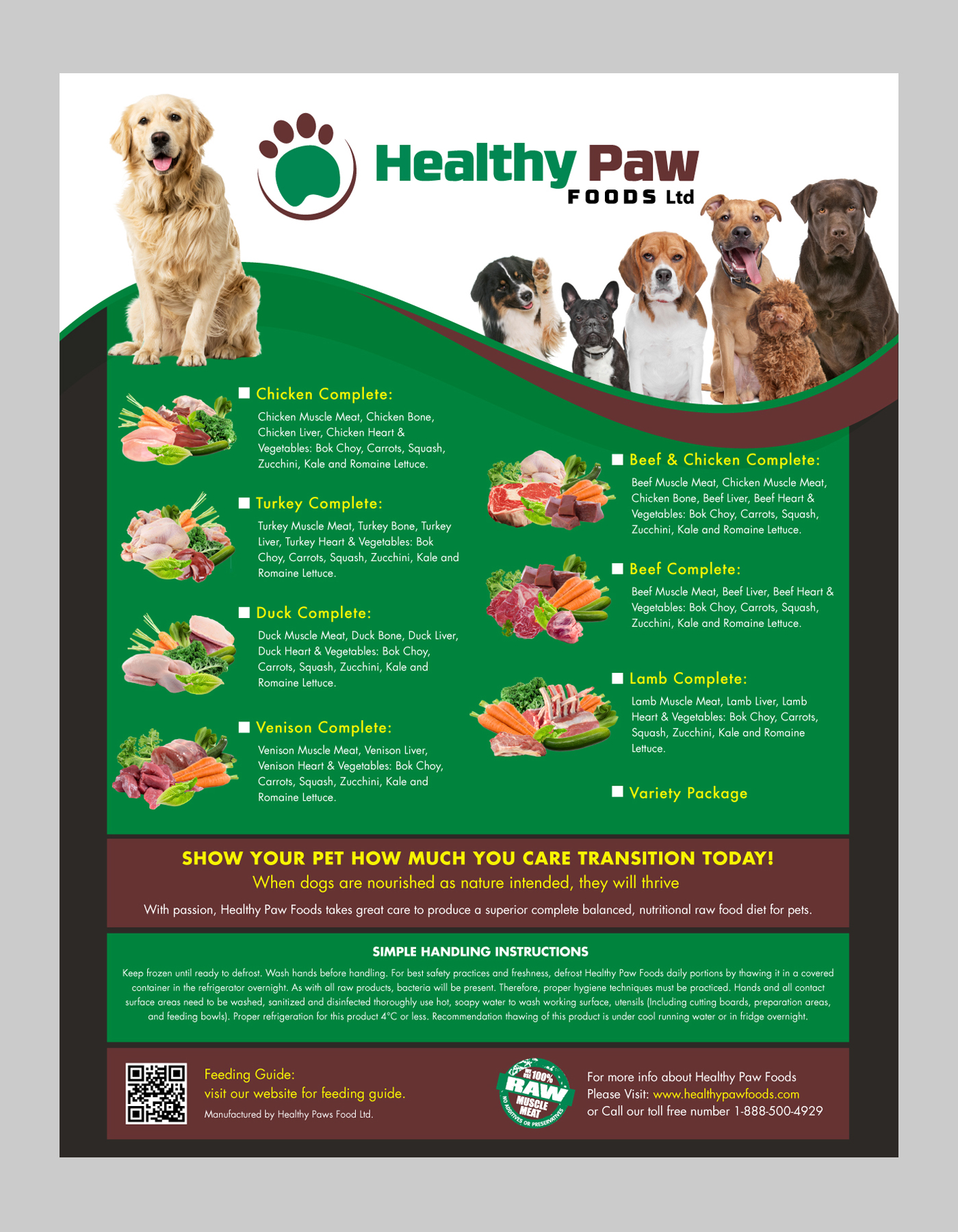 Label For Raw Dog Food - Animals