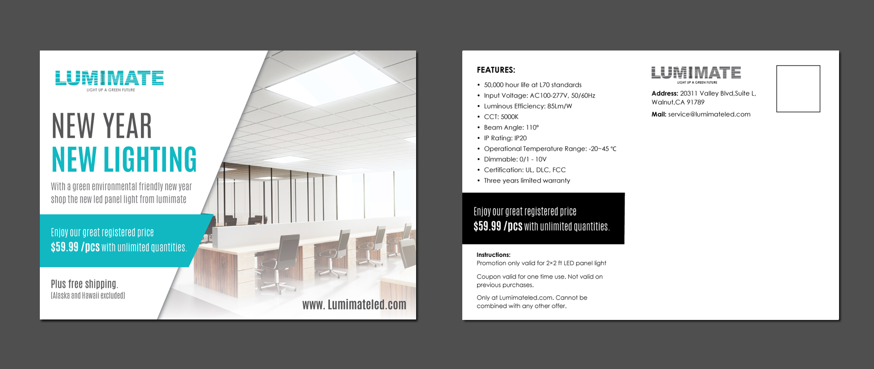 Sales Flyers for a LED Lighting Company - Consumer Electronics