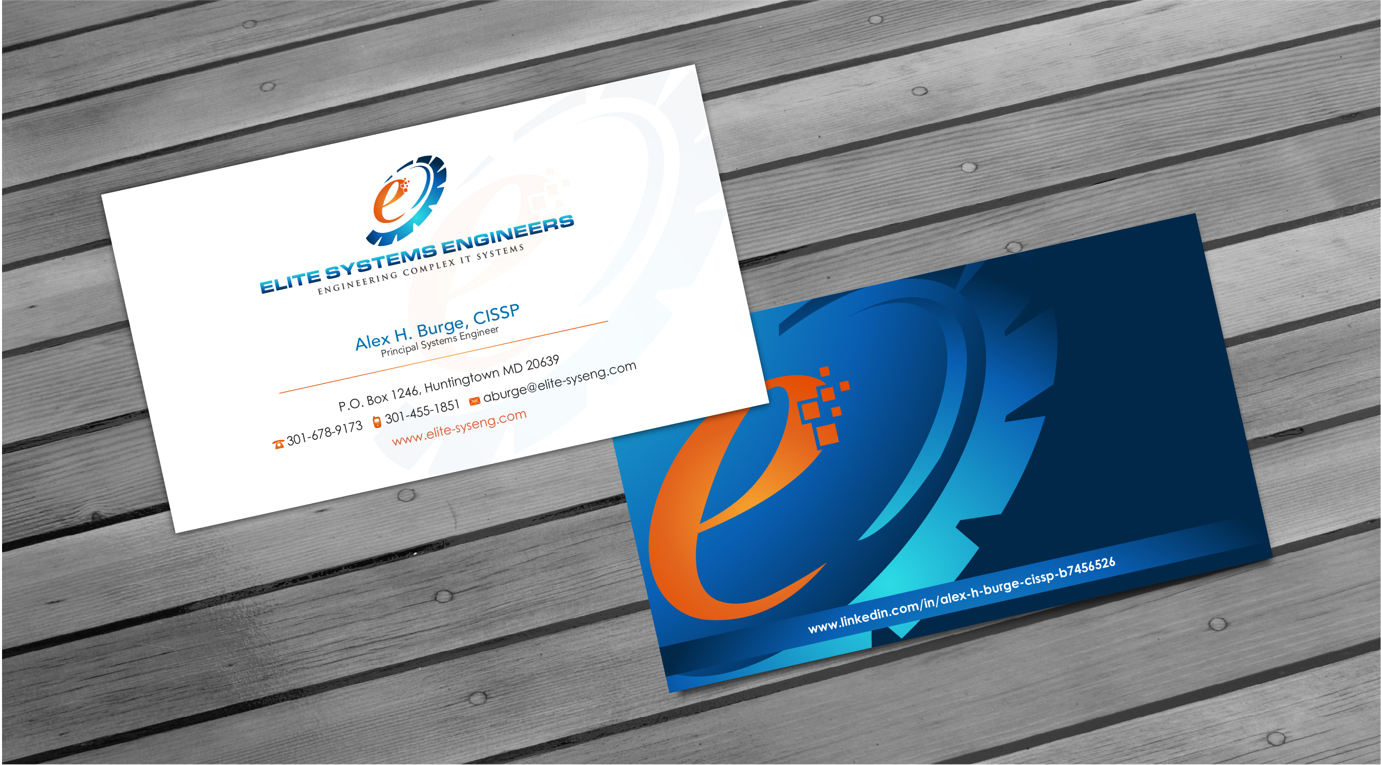 Business cards - Information Technology