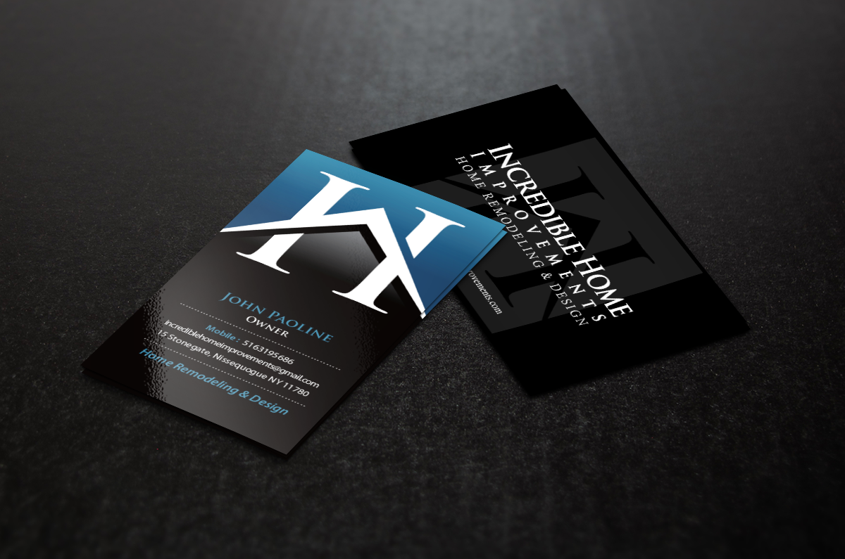 Business Card for Home Remodeling Business - Construction