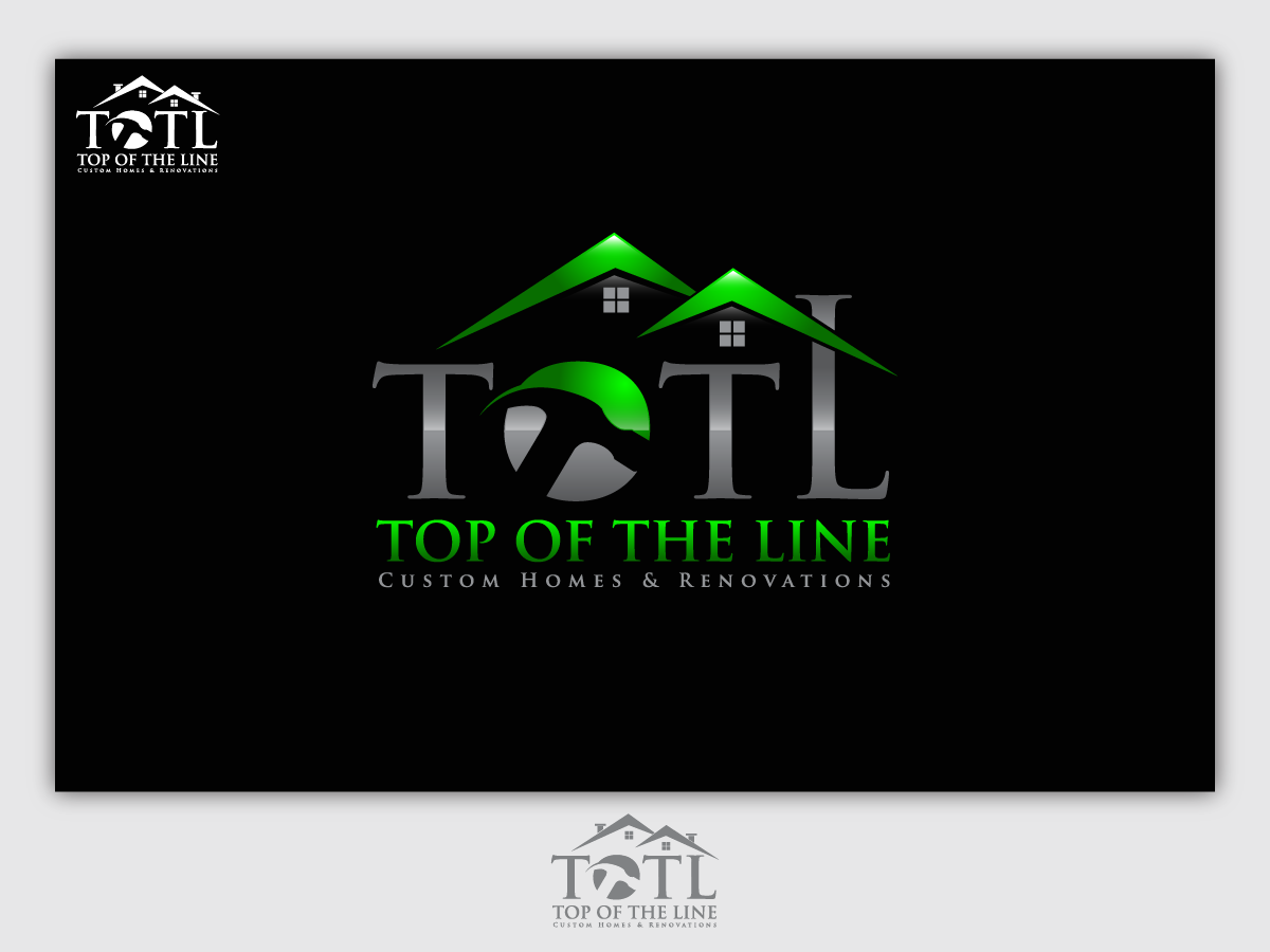 Logo For Custom Home Builder And Renovation Company By Totltx