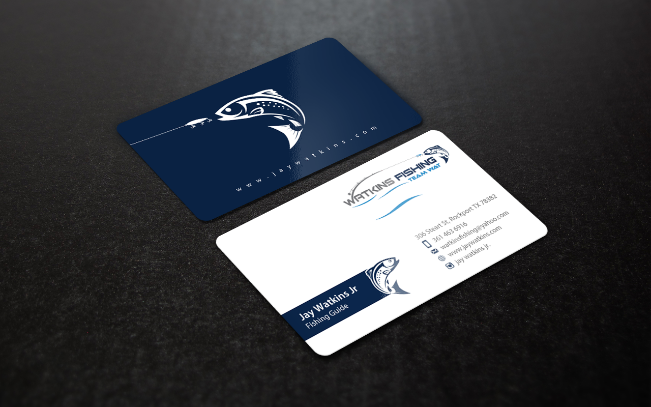 Business Cards for Professional Fishing Guide - Advertising