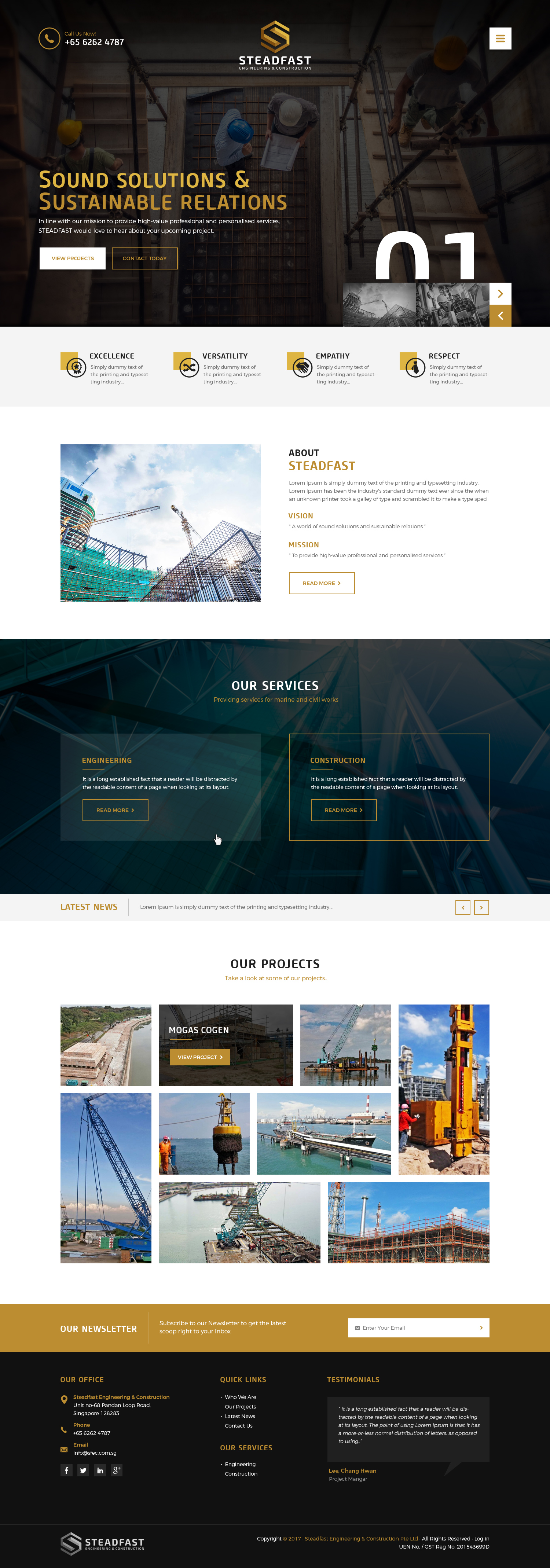 Website for a Marine and Civil Works Company - Construction