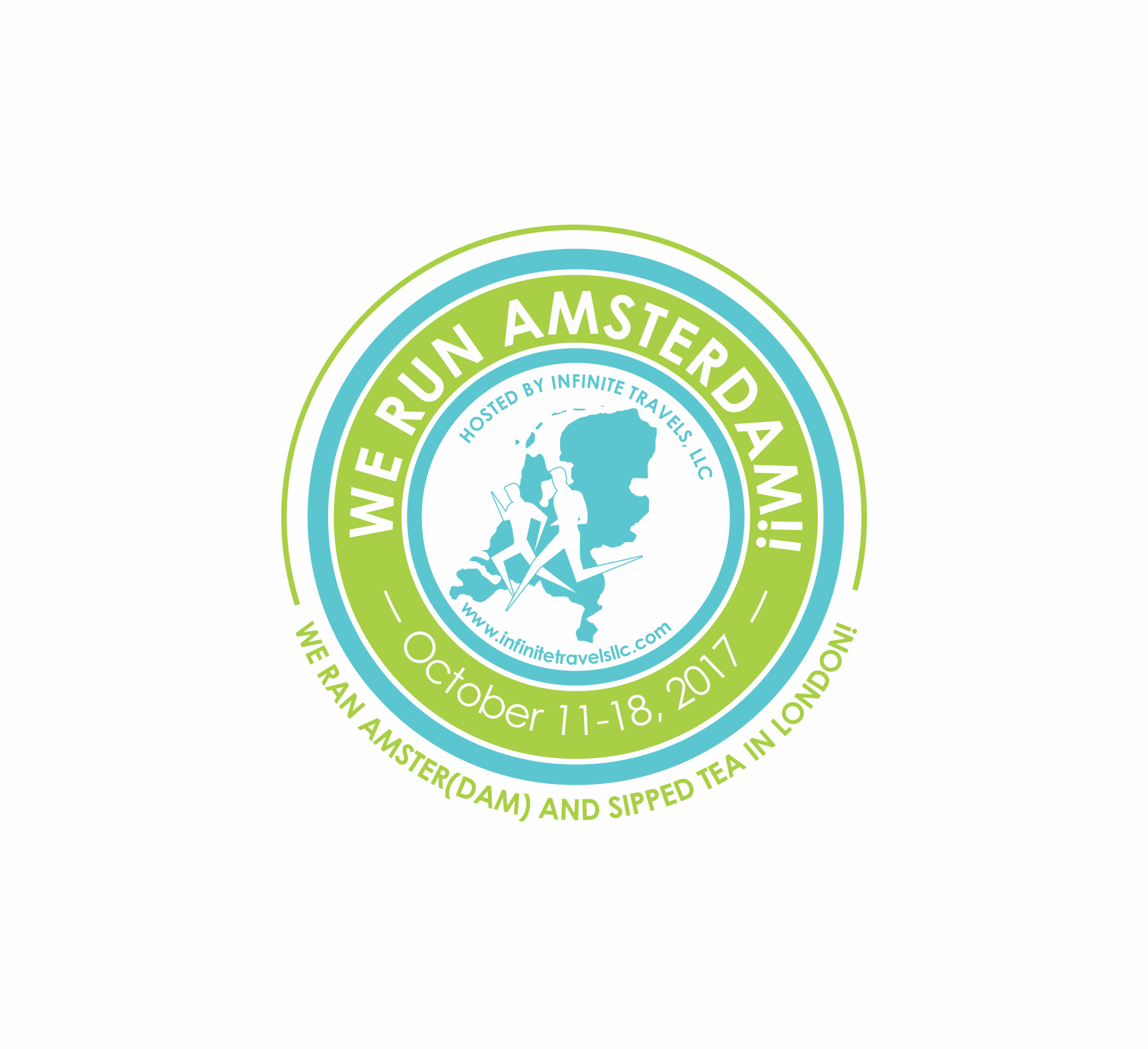 Logo for a running group traveling to Amsterdam and London  - Travel Logo