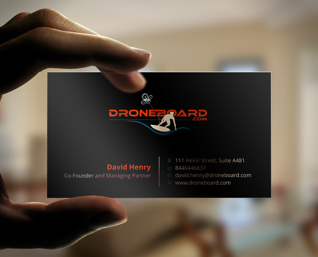 * Cool Droneboarding Company - Business Card & Stationery - Sports