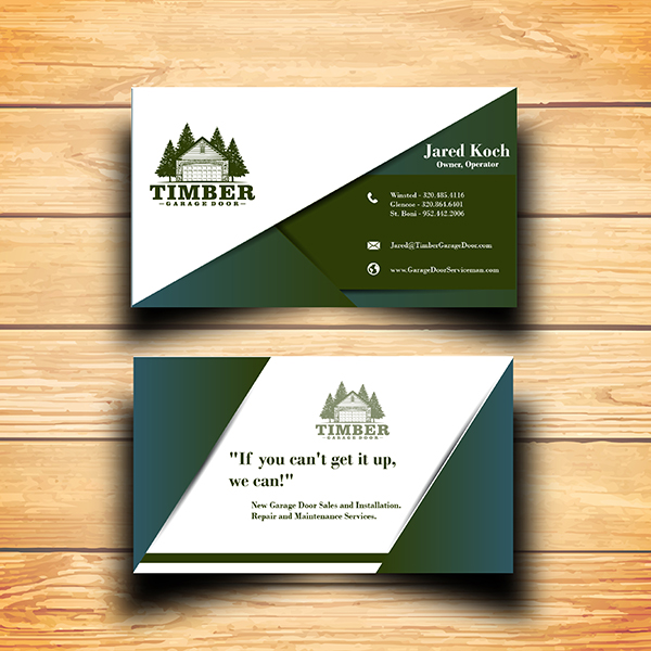 Garage Door Company seeking business card designs. - Home and Garden