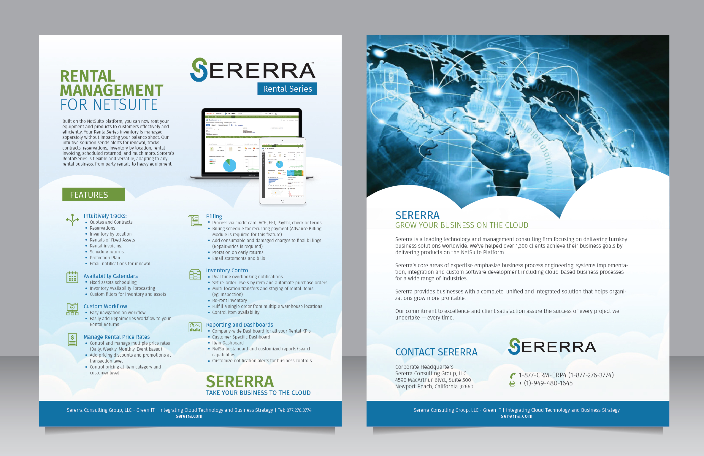 Datasheet for a software company - Software