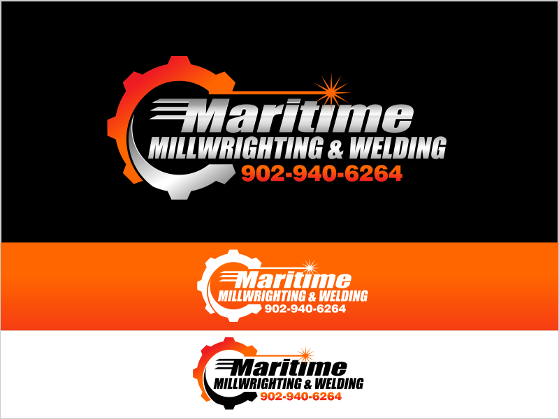 Logo for a welding millwright contracting company - Trade Logo
