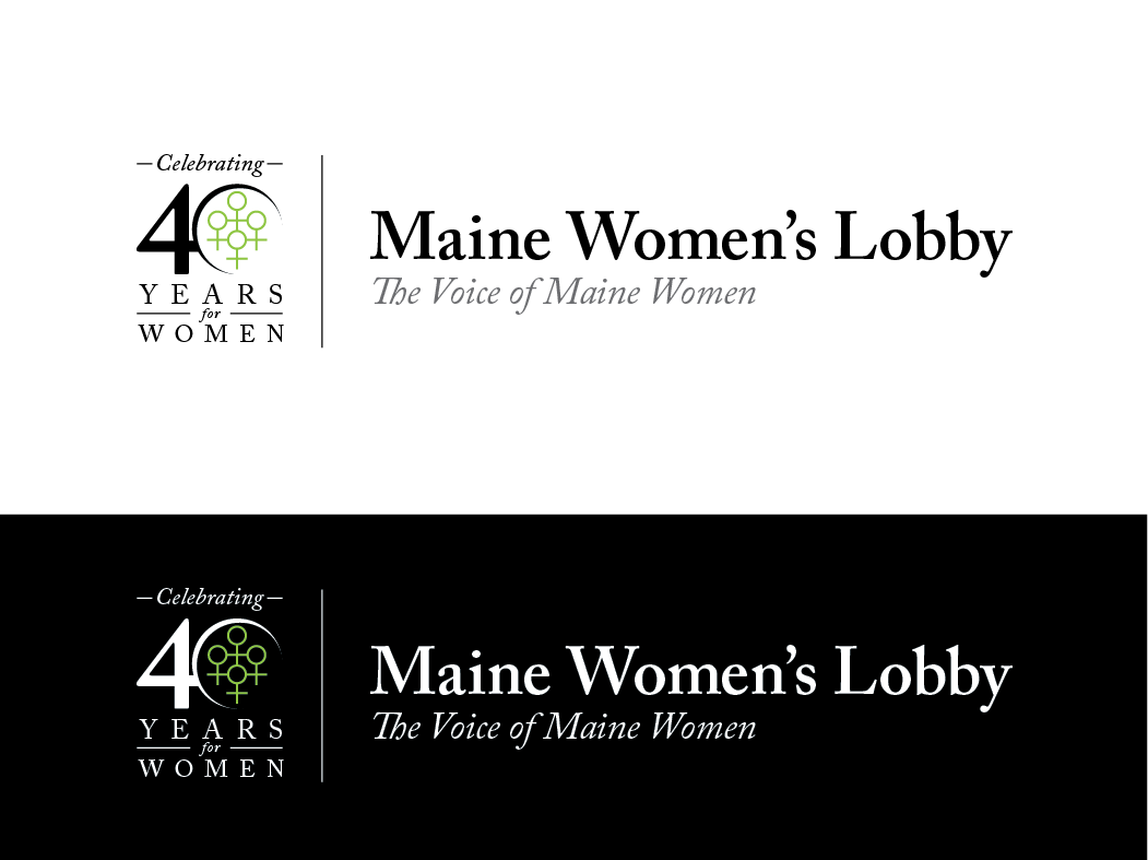 Logo for the 40th Anniversary Year of a Women's Non-profit - Government Logo