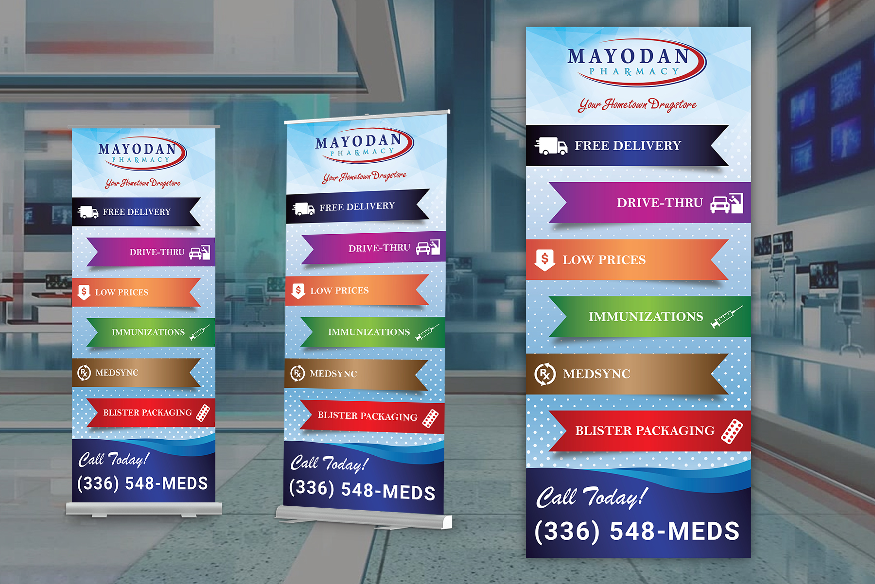 Retractable Banner Ad - Pharmacy/Pharmaceuticals