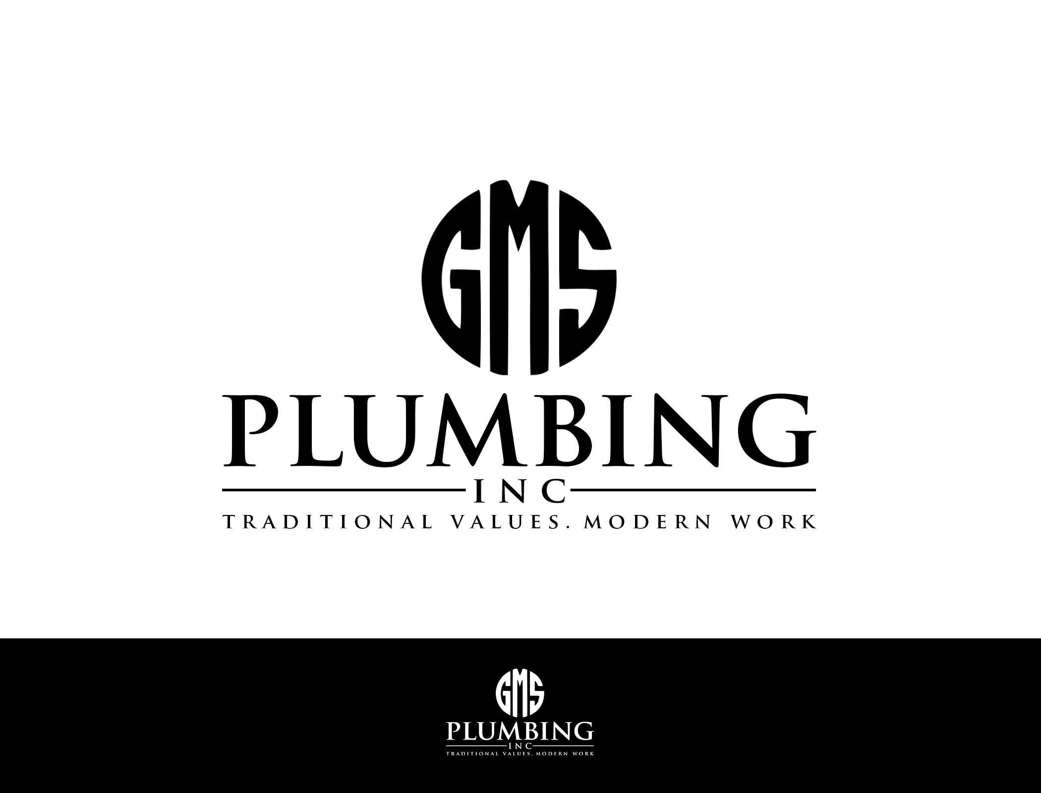 Modern Logo for a Plumbing Company - Construction