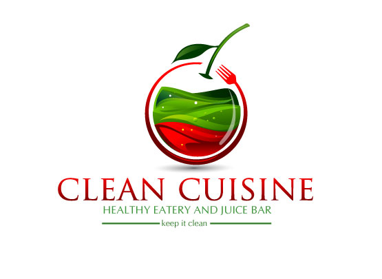 clean cuisine  - Food Logo