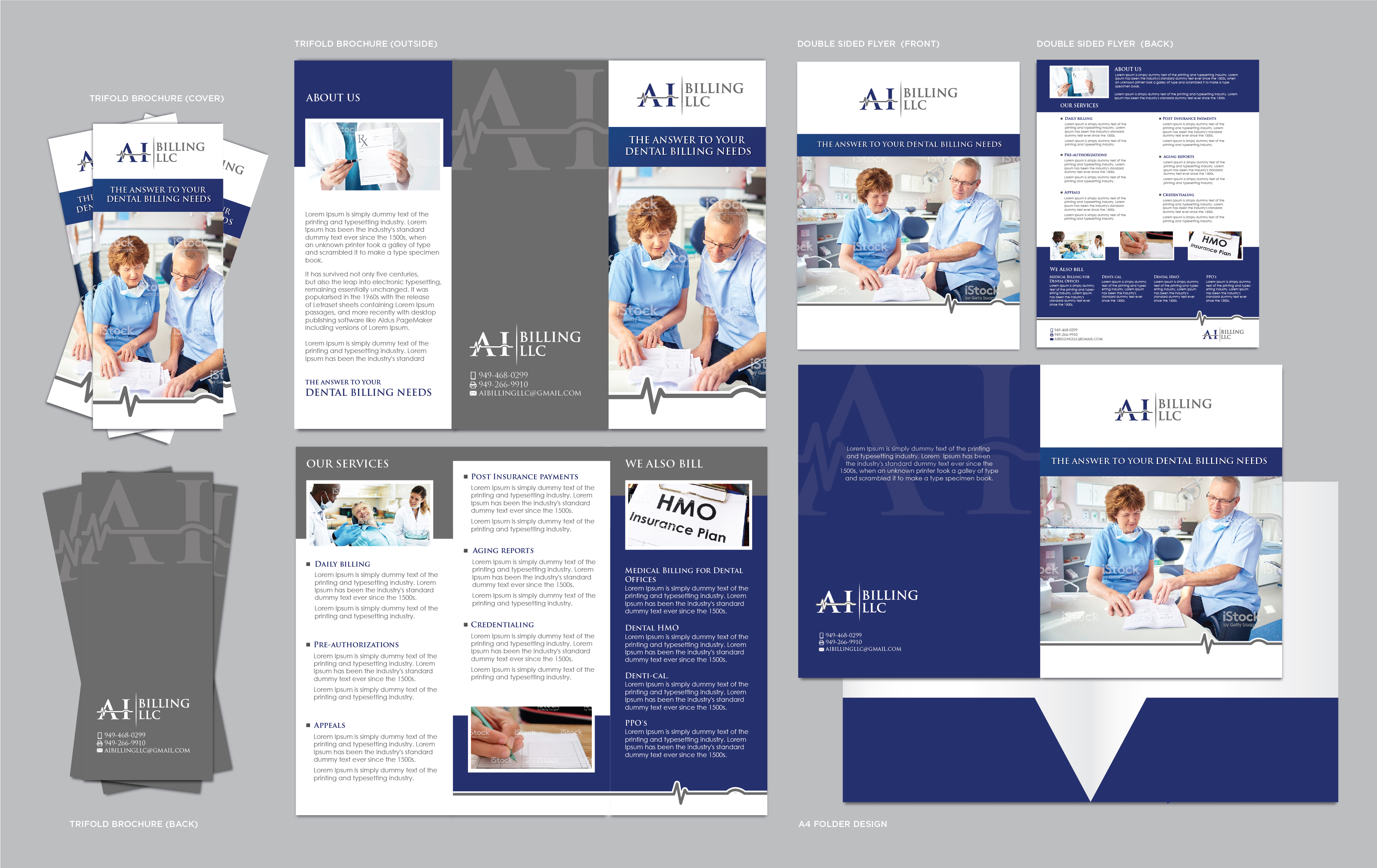 Brochure/marketing collateral for a dental billing company - Financial Services