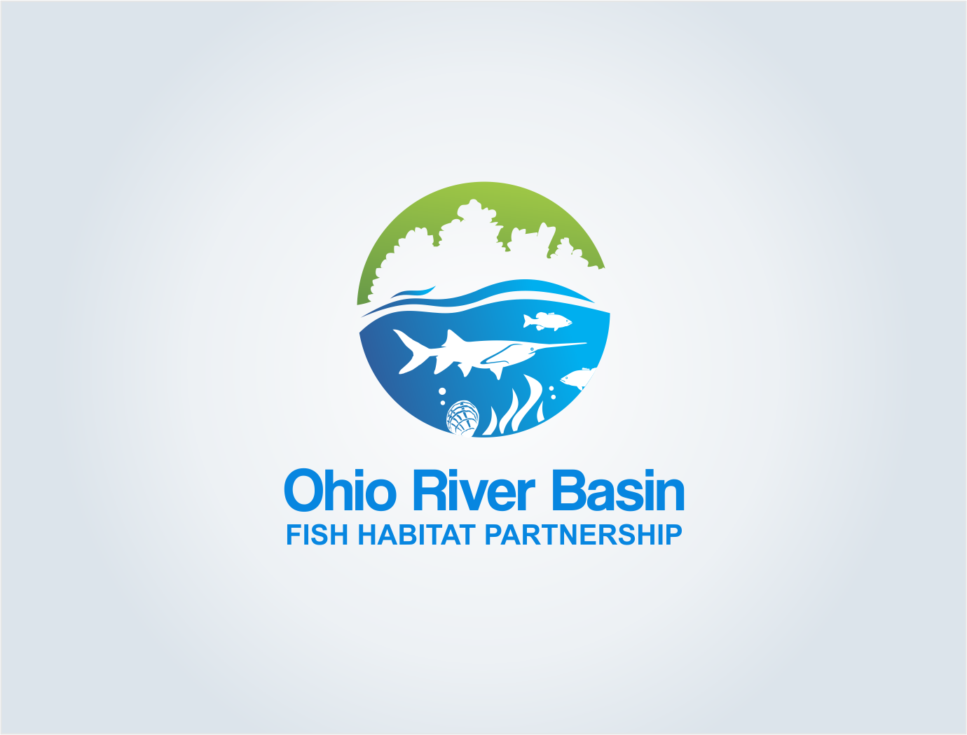 Logo for Ohio River Basin Fish Habitat Partnership - Environment Logo