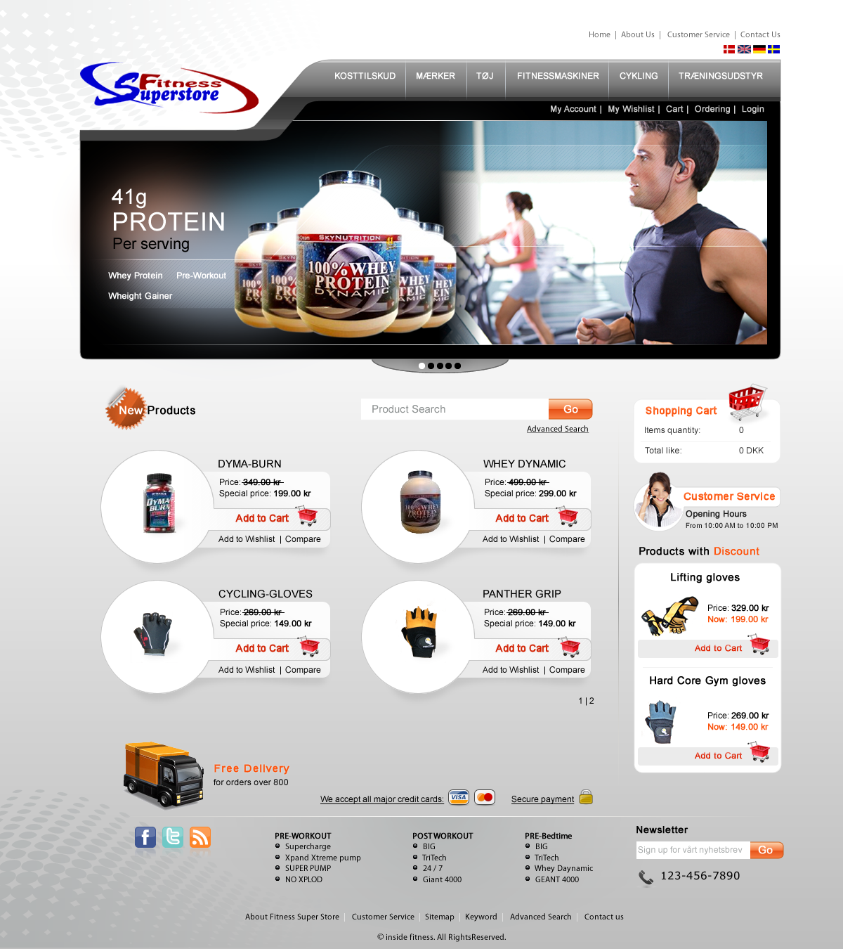 fitnesssuperstore need new design  - Sports