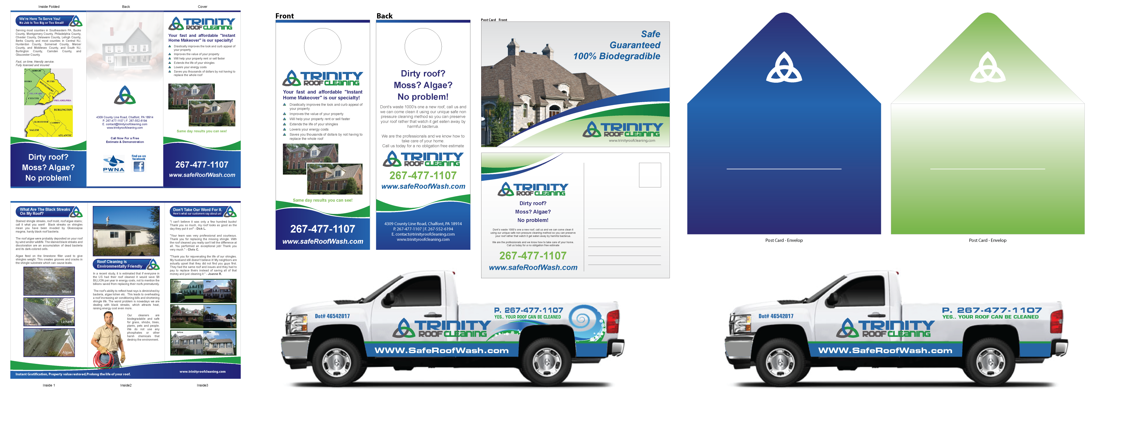 Truck wrap/Post card/Trifold - Cleaning